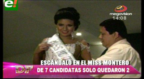 Bochornosa elección de Miss Montero 2015