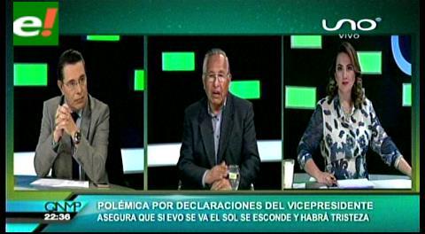 """""""Declaraciones de García Linera, demuestran desesperación y nerviosismo"""": Ex vicepresidente Cárdenas"""