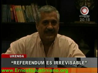 """Urenda: """"El pueblo ya votó, el referéndum por los Estatutos es irrevisable"""""""