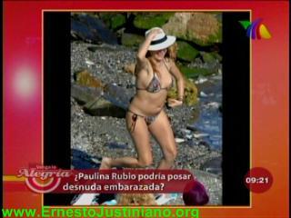 Paulina Rubio Posará Desnuda Y Embarazada Ejutv