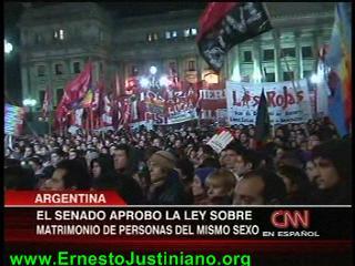 Argentina aprueba el matrimonio gay