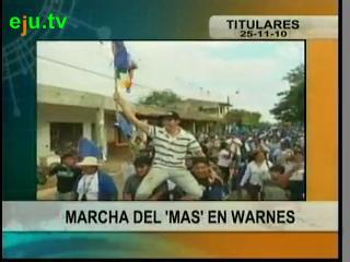 Marcha del MAS en Warnes