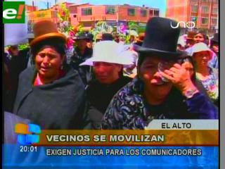 """Fejuve de El Alto se moviliza y advierte que aplicará el """"ojo por ojo"""" a los delincuentes"""