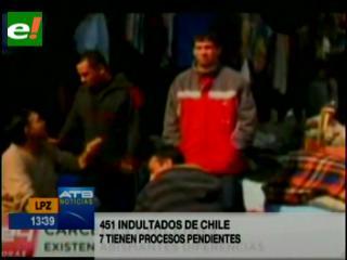 Siete de los indultados en Chile continuarán su condena en Bolivia