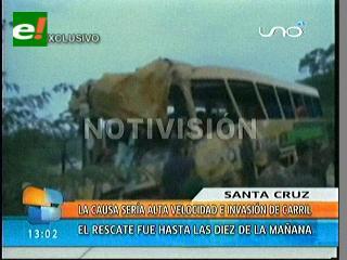 Trágico accidente de flotas en San José de Chiquitos causa 16 muertos