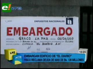 """SIN declara """"quiebra técnica"""" de El Diario y embargó sus bienes por deudas"""