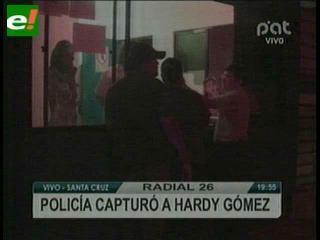 Detienen a Hardy Gómez Vaca