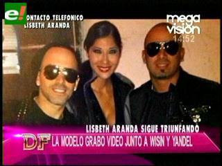 Lisbeth Aranda filmó videoclip con Wisin & Yandel