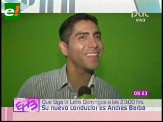 """Andrés Barba el nuevo conductor de """"Que siga la letra"""""""