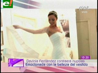 Davinia Fernández da detalles de su boda