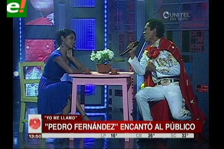 """Pedro Fernández"" gran favorito de Yo me llamo"
