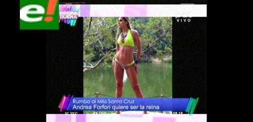 Andrea Forfori quiere la corona de Miss Santa Cruz 2014