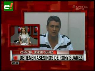 Detienen a los asesinos de Ronny Suárez