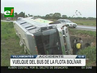 Villamontes: Vuelque de bus deja el saldo de 1 muerto y 36 heridos