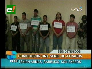 """Felcc captura a los atracadores de la cooperativa """"La Trinidad"""""""