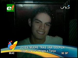 Joven cruceño muere tras recibir brutal golpiza en Tarija