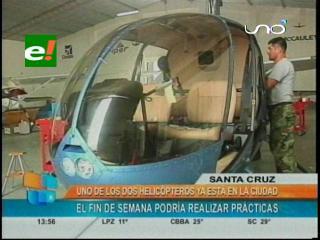 Santa Cruz: Helicóptero para la Policía está casi armado