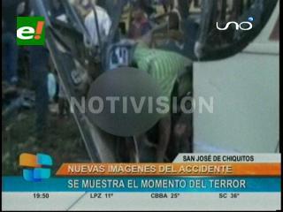 Nuevas imágenes del accidente en la carretera a San José de Chiquitos