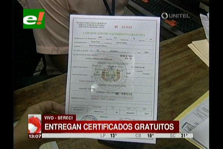 Sereci otorga certificados de nacimiento gratuitos para menores de ...