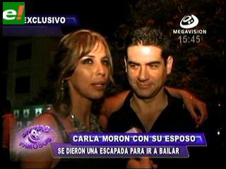 Carla Morón y Pedro Gantier disfrutaron en una discoteca