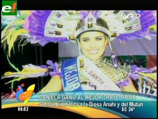 "Daniela Núñez del Prado ""Mejor traje típico"" del Miss Bolivia 2011"