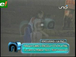 Paraguaya Se Desnuda En La Paz Eju Tv