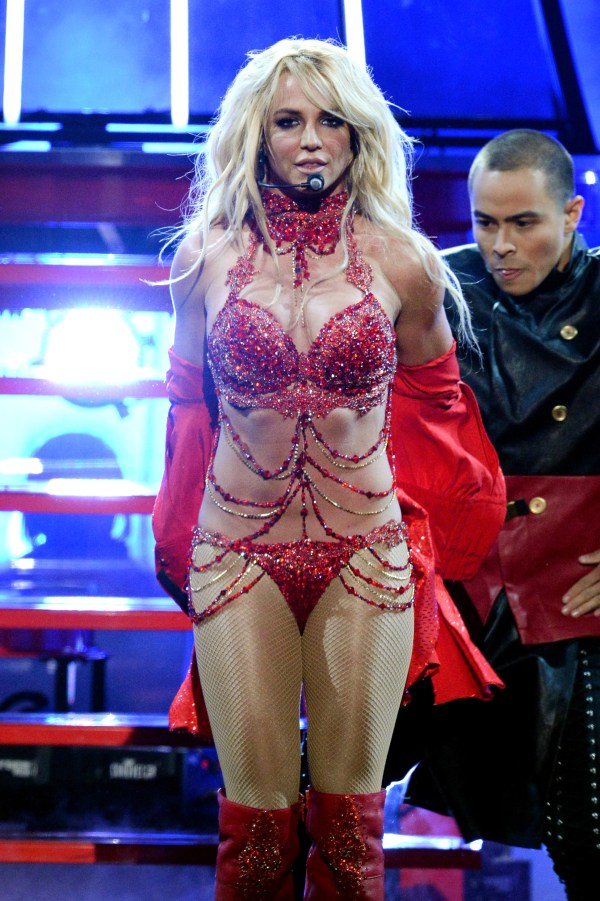 LAS VEGAS, NV - MAY 22: Recording artist Britney Spears performs onstage during the 2016 Billboard Music Awards at T-Mobile Arena on May 22, 2016 in Las Vegas, Nevada.   Kevin Winter/Getty Images/AFP