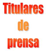 Titulares de prensa
