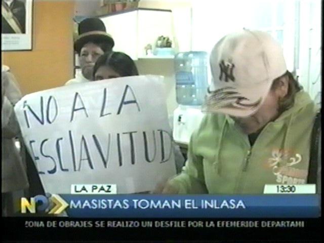 Masistas toman oficinas de Inlasa en La Paz
