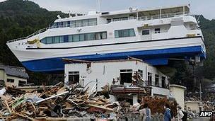 El terremoto de 2011 causó una gran destrucción en la costa nororiental de Japón.