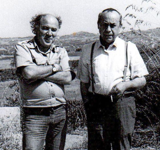 Federico Campbell con Leonardo Sciascia.