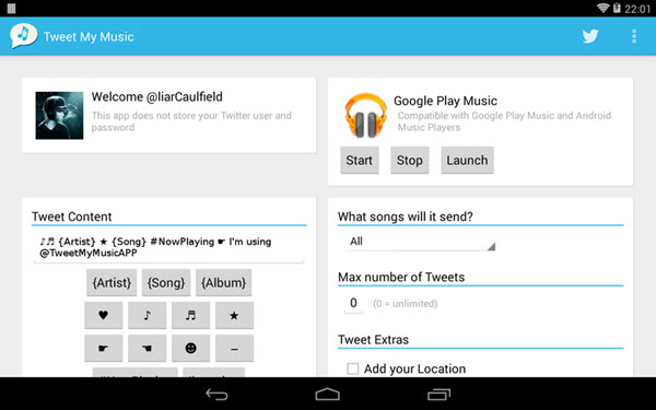 Tweet my music