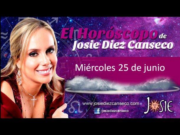 Josie Diez Canseco: Horóscopo del miércoles 25 de junio (VIDEO)