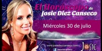 Josie Diez Canseco: Horóscopo del miércoles 30 de julio