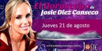 Josie Diez Canseco: Horóscopo del jueves 21 de agosto