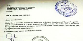 Concierto obliga a cambiar sede del partido Blooming-Universitario