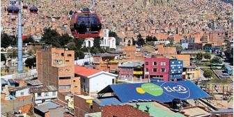 Teleférico La Paz- El Alto inspira publicidad en techos