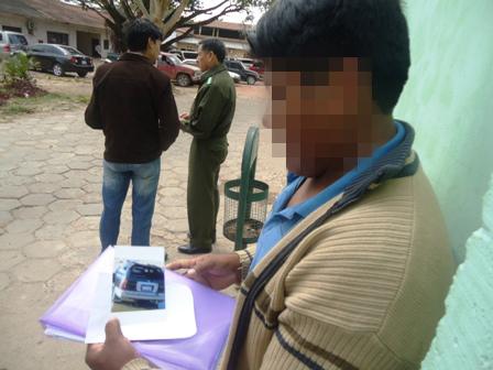 Taxista recibe llamadas de extorsión desde Palmasola