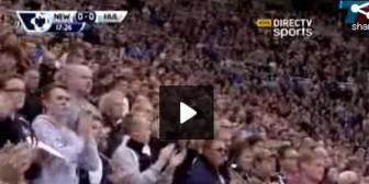 Emotivo homenaje de jugadores e hinchas de Newcastle a Jonás Gutiérrez