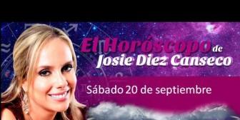 Josie Diez Canseco: Horóscopo del sábado 20 de septiembre
