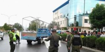 Militante del MAS muere en accidente durante caravana de campaña