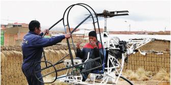 Motor de 60 hp hará volar este año el helicóptero de los Cancari