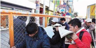 Venden y 'alquilan' en El Alto la lista de jurados