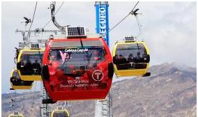 """Teleférico La Paz-El Alto habilitó la """"cabina cupido"""" por siete días desde este 21 de septiembre"""