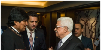 """Presidente Abás: Palestina no olvidará """"nunca"""" apoyo de Bolivia durante bombardeos israelíes"""