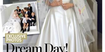 Vestido de novia de Angelina: las fotos de su boda con Brad Pitt