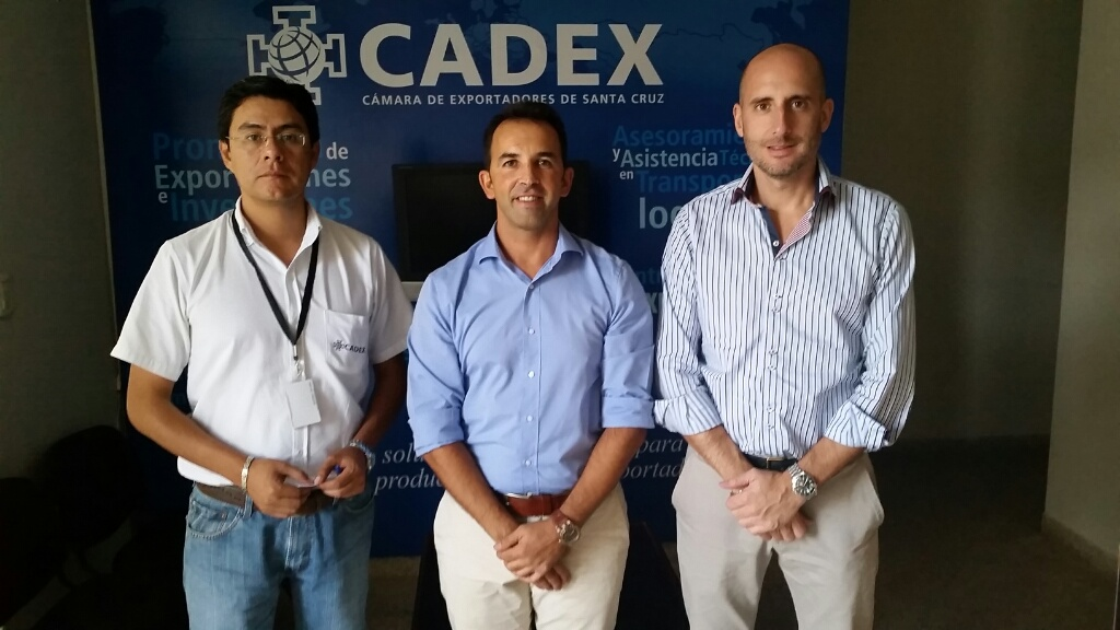 Marco Antonio Moscoso (CADEX), Álvaro Millán (CEO BLUUMI), Estanislao Asián (COO BLUUMI)