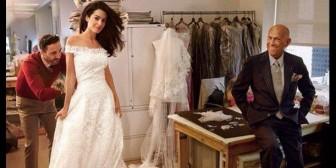 El último vestido de Oscar de la Renta fue para Amal Alamuddin