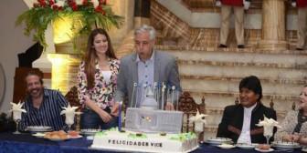 García Linera festeja sus 52 años en Palacio