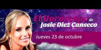 Josie Diez Canseco: Horóscopo del jueves 23 de octubre